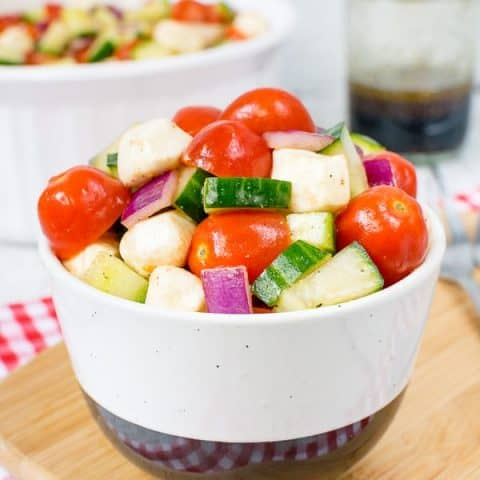 Balsamic Caprese Veggie Salad