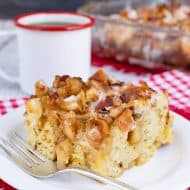 Maple Bacon Apple Cinnamon Roll Bake
