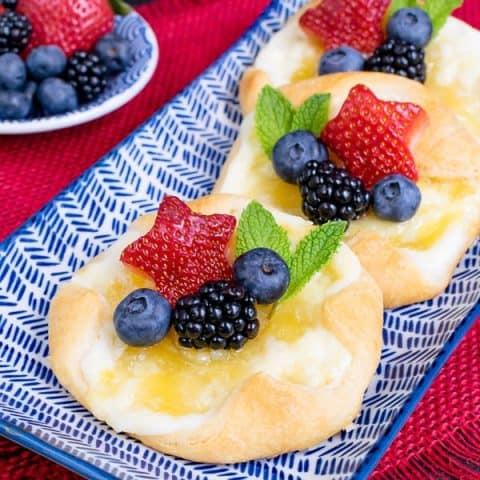 Easy Lemon Cheesecake Danish