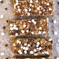 No Bake Nutella S'mores Granola Bars