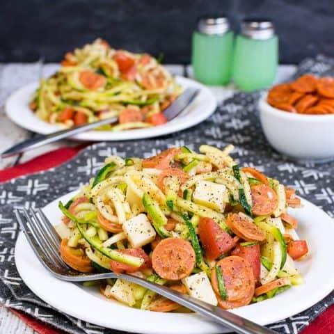 Healthy Pizza Zucchini Salad