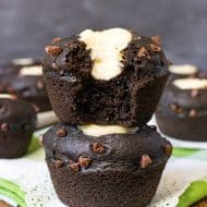 Chocolate Zucchini Cheesecake Muffins