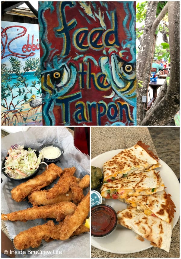 Fun Things to do While Driving the Florida Keys - walk on the docks, feed the tarpon, and eat at the Hungry Tarpon Restaurant at Robbie's Marina in Islamadora #travel #Florida #sunshinestate #roadtrip