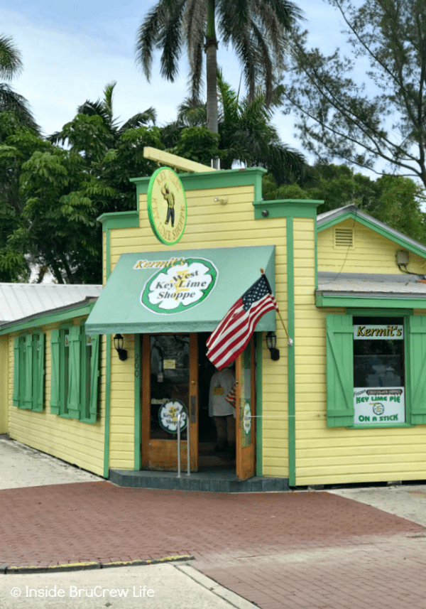 Fun Things to do While Driving the Florida Keys - make sure you stop at Kermit's Key Lime Shoppe in Key West for a slice of pie. They also offer all kinds of key lime treats that are sweet and savory. #travel #Florida #sunshinestate #roadtrip
