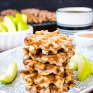 Mini Apple Fritter Waffle Donuts
