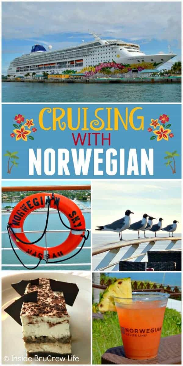 Cruising with Norwegian Cruise Line - you will enjoy so many fun activities, meals, drinks, and ports when you cruise with Norwegian #cruise #vacation #norwegian #caribbean