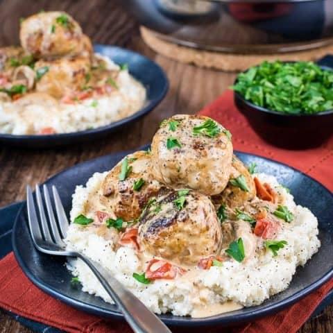 Low Carb Chicken Stroganoff Meatballs Recipe