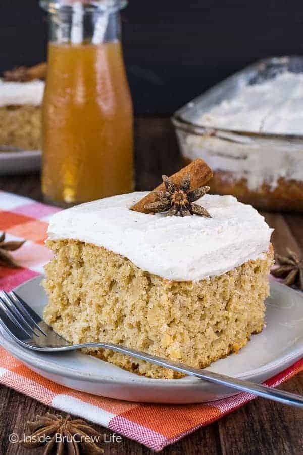 Apple Cider Cake - fresh apples, cider, and spices make this easy cake an amazing dessert!