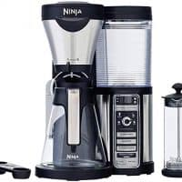 Ninja Coffee Bar with Glass Carafe and Auto-iQ One with Permanent Filter Basket & Hot & Cold 18 oz. Insulated Tumbler - CF082 (Certified Refurbished)