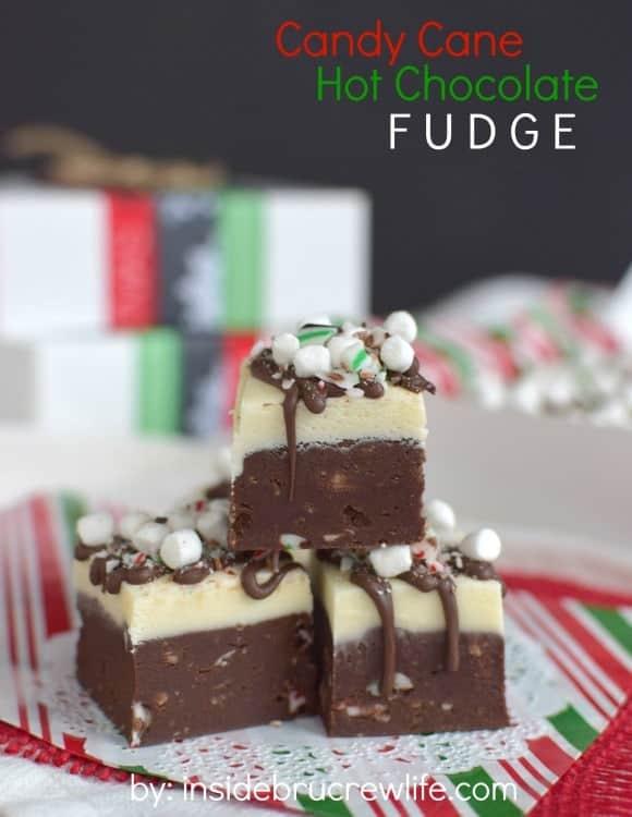 Candy Cane Hot Chocolate Fudge