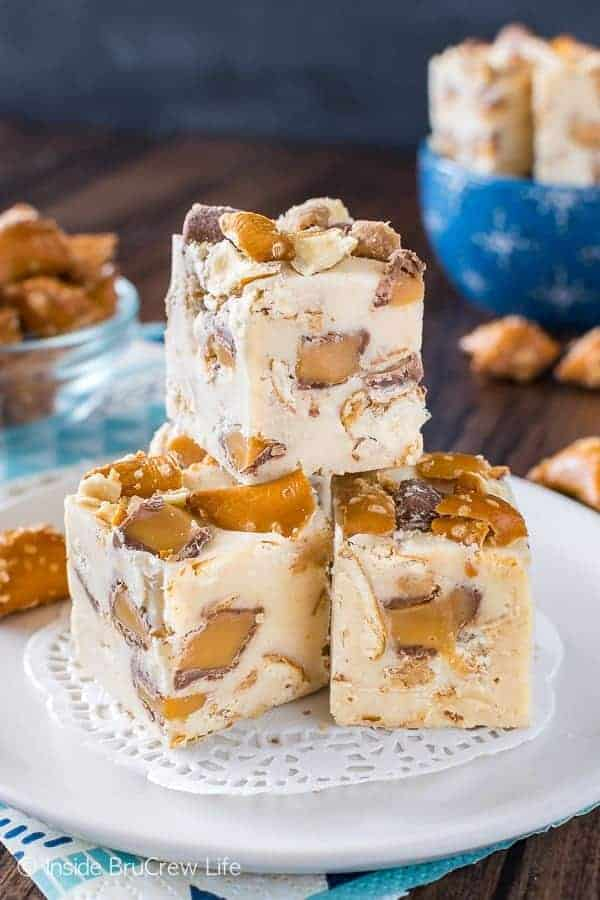 Peanut Butter Caramel Pretzel Fudge