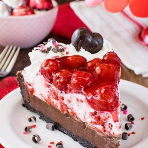 Chocolate Cherry Mousse Tart