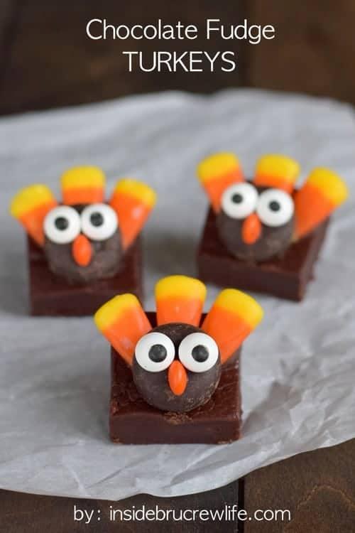 Chocolate Fudge Turkeys