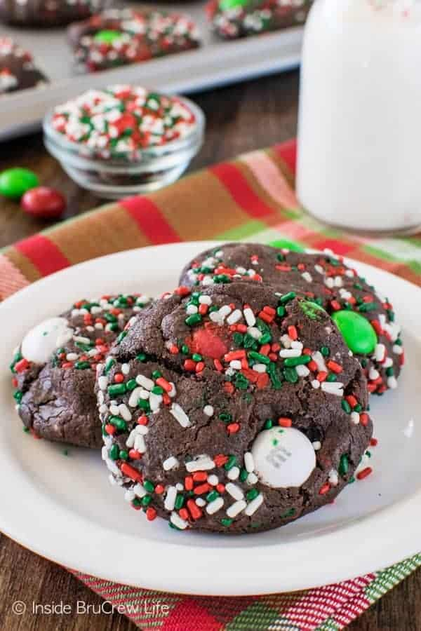 Chocolate Mint Pudding Cookies