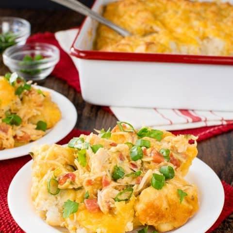 Fiesta Nacho Chicken Casserole