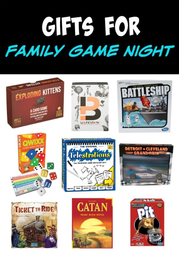 A collage of different board games that the whole family will love