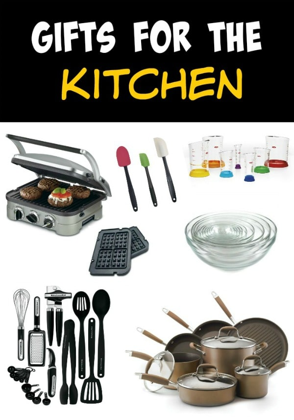 A collage of different kitchen tools for the foodie in your life