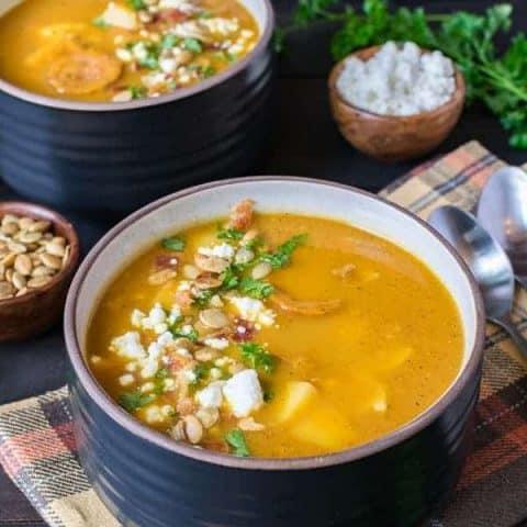 Pumpkin Potato Corn Chowder