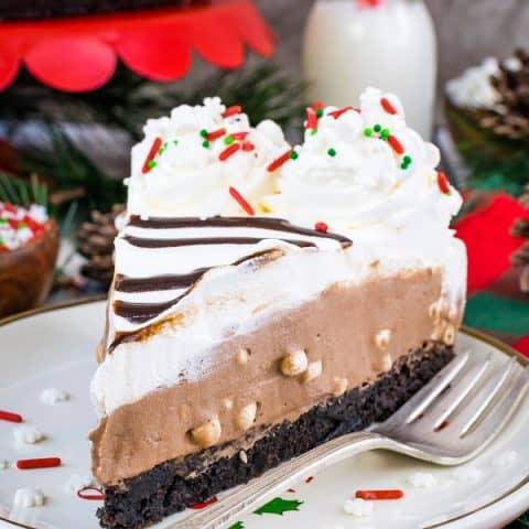 Hot Chocolate Cheesecake Brownie Cake