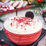 White Chocolate Peppermint Cheesecake Dip