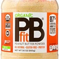PBfit All-Natural Organic Peanut Butter Powder, 30 Ounce, Peanut Butter Powder from Real Roasted Pressed Peanuts, Good Source of Protein, Organic Ingredients
