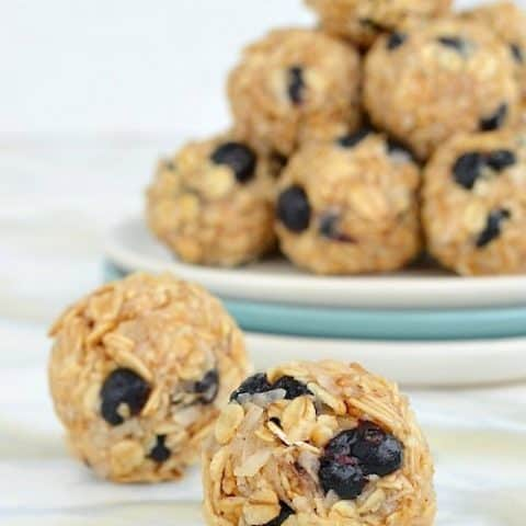 Blueberry Coconut Granola Bites