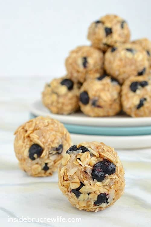 Blueberry Coconut Granola Bites