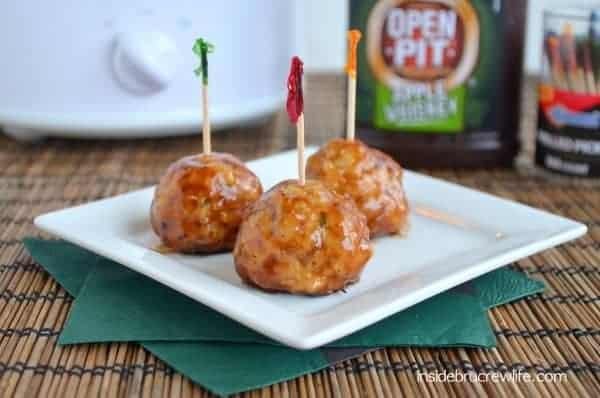 Apple Whiskey Chicken Meatballs