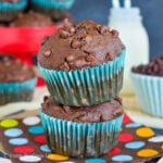 Best Ever Double Chocolate Banana Muffins