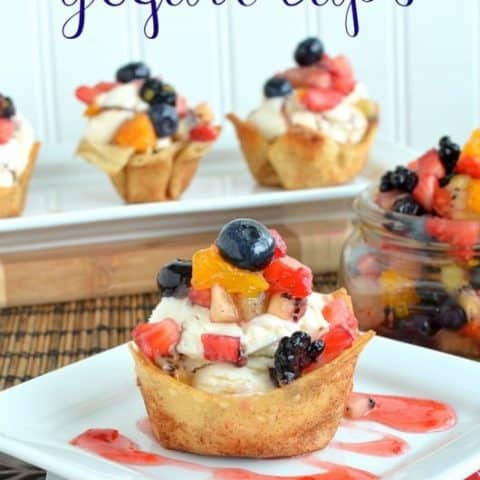 Fruit Salsa Yogurt Cups