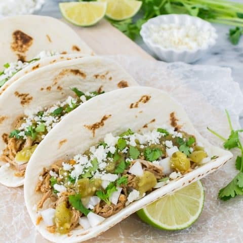 Green Chile Pulled Pork Tacos