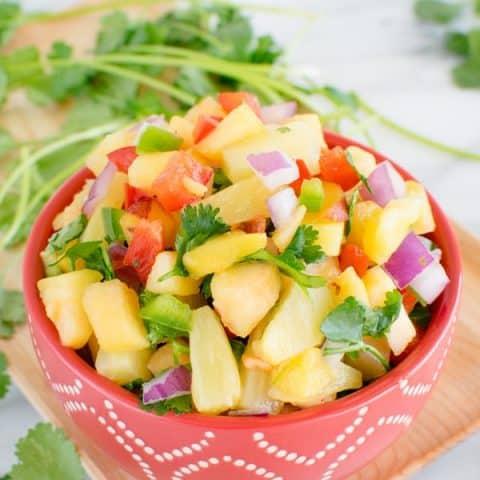 Pineapple Peach Salsa