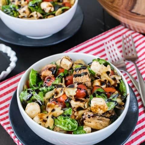 Spinach Chicken Caprese Salad