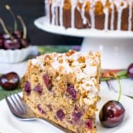 Cherry Zucchini Coffee Cake