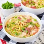 Low Carb Chicken Alfredo Zoodle Soup