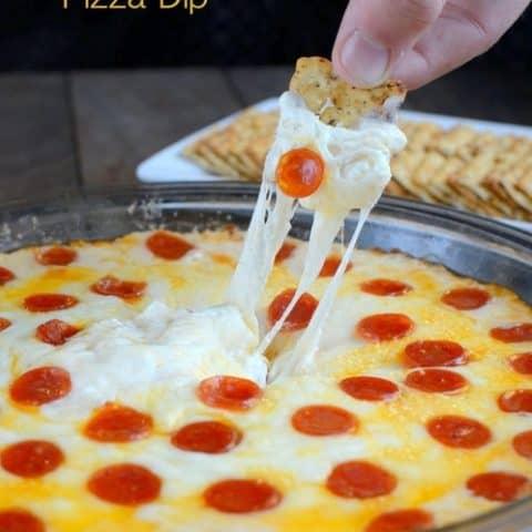 Pepperoni Alfredo Pizza Dip
