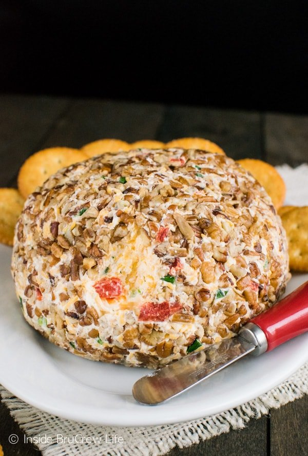 Roasted Red Pepper and Garlic Cheese Ball