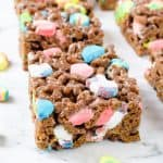 Easy Lucky Charms Marshmallow Treats Recipe {3 Ingredient}