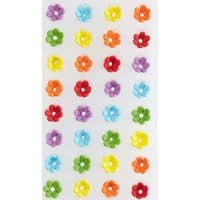 Wilton Mini Daisy Multi-Color Icing Decorations, 32-Count