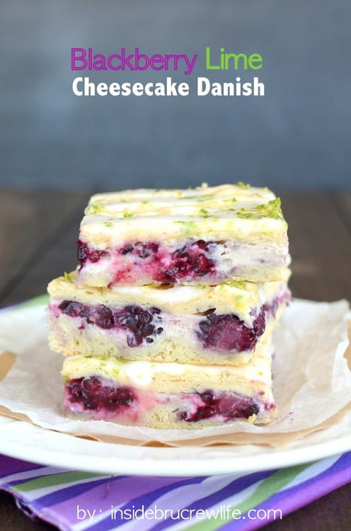 Blackberry Lime Cheesecake Danish