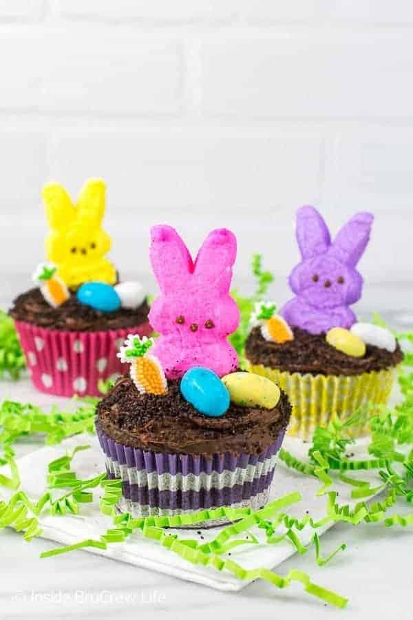 Easter Dirt Cupcakes