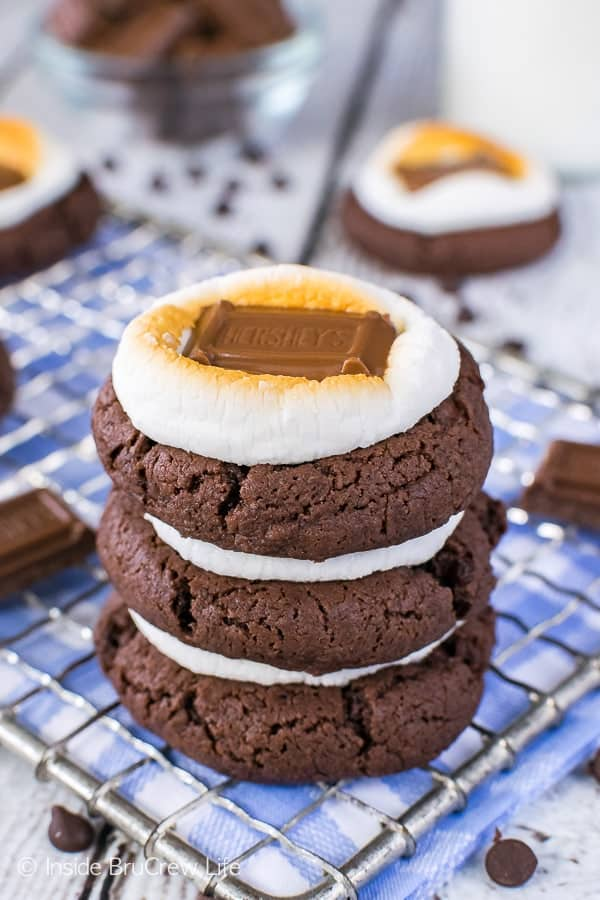 Easy Chocolate Marshmallow Cookies