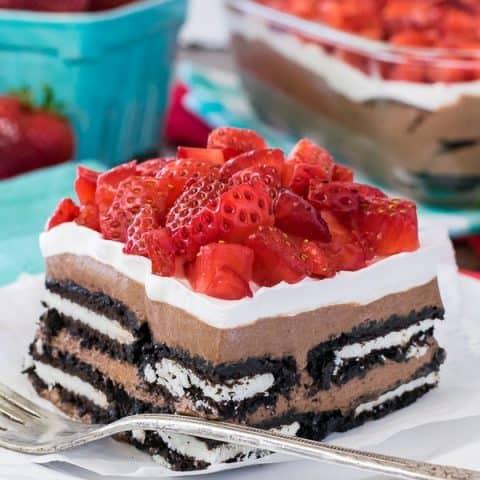 No Bake Nutella Oreo Icebox Cake