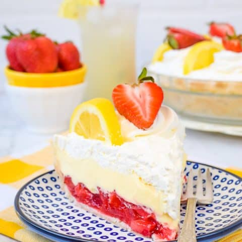 Lemon Cream Strawberry Pie