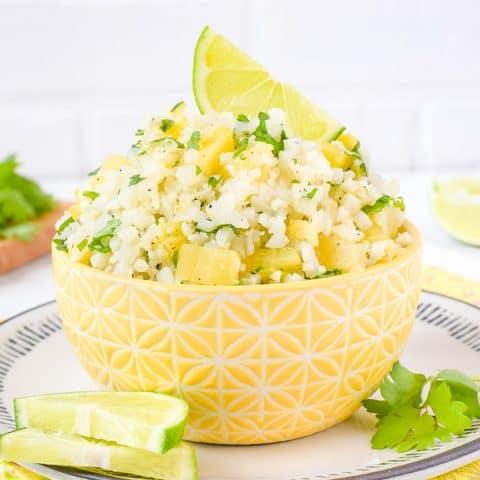 Pineapple Lime Cauliflower Rice