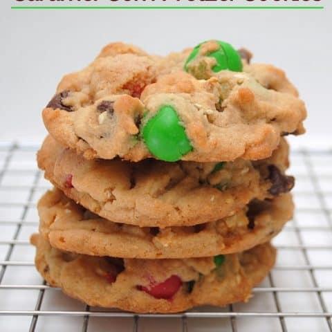 Caramel Pretzel Cookies Recipe