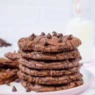 Chewy Chocolate Brownie Cookies