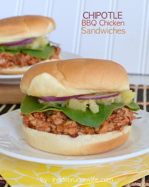 Chipotle BBQ Chicken Sandwiches