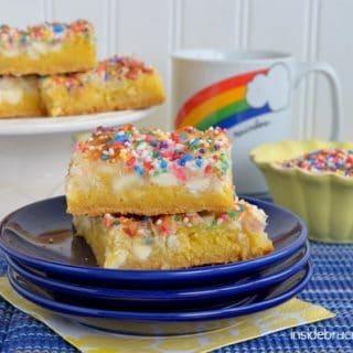 Lemon Magic Cake Bars