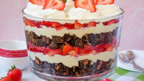 Easy No Bake Neapolitan Cheesecake Trifle Recipe Inside Brucrew Life